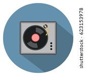 phonograph turntable icon | Shutterstock .eps vector #623153978