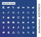 big industry icon set | Shutterstock .eps vector #623154014