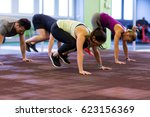 fitness  sport and healthy...   Shutterstock . vector #623156369
