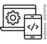 web develop vector icon | Shutterstock .eps vector #623159720
