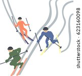 skiers flee the snow sport