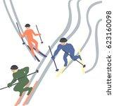 skiers flee the snow sport