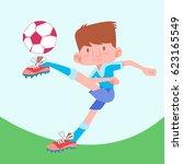 cartoon football vector   Shutterstock .eps vector #623165549