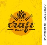 local craft beer creative... | Shutterstock .eps vector #623165690