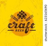 local craft beer creative... | Shutterstock .eps vector #623165690