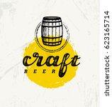 local craft beer creative... | Shutterstock .eps vector #623165714