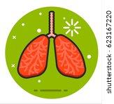 human lungs   Shutterstock .eps vector #623167220