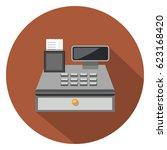 cashier icon | Shutterstock .eps vector #623168420