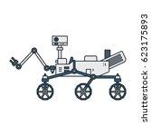 vector illustration of a mars... | Shutterstock .eps vector #623175893