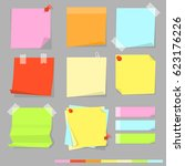 sticky note vector isolated... | Shutterstock .eps vector #623176226