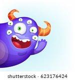 waving monster | Shutterstock .eps vector #623176424
