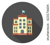 school building icon   Shutterstock .eps vector #623176604