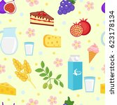 shavuot seamless pattern.... | Shutterstock .eps vector #623178134