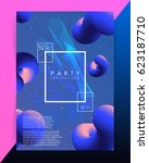 abstract lines. volume blended... | Shutterstock .eps vector #623187710