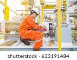 mechanical technician checking... | Shutterstock . vector #623191484