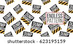 seamless pattern with dump... | Shutterstock .eps vector #623195159