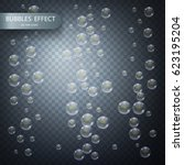 water bubbles isolated on a... | Shutterstock .eps vector #623195204
