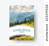 design of the cover in a... | Shutterstock .eps vector #623195528