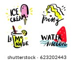 summer time stickers  fashion... | Shutterstock .eps vector #623202443