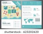 travel brochure design.... | Shutterstock .eps vector #623202620