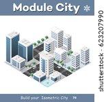 isometric module of the modern... | Shutterstock . vector #623207990