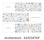 vector line concept for big... | Shutterstock .eps vector #623218769