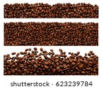 roasted coffee beans pile from... | Shutterstock . vector #623239784