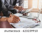 image of two young business...   Shutterstock . vector #623239910