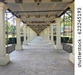 long corridor under... | Shutterstock . vector #623245193