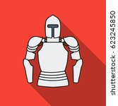 plate armor icon in flat style...   Shutterstock .eps vector #623245850