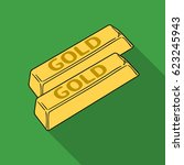 golden bars icon in flat style... | Shutterstock .eps vector #623245943