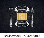 restaurant menu design. vector... | Shutterstock .eps vector #623248880