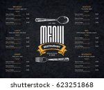 restaurant menu design. vector... | Shutterstock .eps vector #623251868