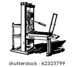 printing press   retro clipart... | Shutterstock .eps vector #62325799