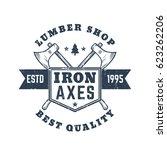 lumber shop vintage logo ... | Shutterstock .eps vector #623262206