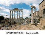 Ancient Rome Forum - Italia. - stock photo