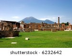 Mount Vesuvius - is a volcano east of Naples, Italy. - stock photo