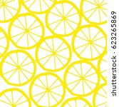 lemon background | Shutterstock .eps vector #623265869