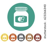 pharmacy and drug icons set... | Shutterstock .eps vector #623266340