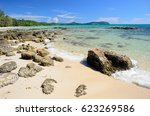 clear water at taphao beach on... | Shutterstock . vector #623269586