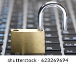 computer security concept with... | Shutterstock . vector #623269694