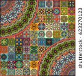 colorful vintage seamless... | Shutterstock .eps vector #623270123