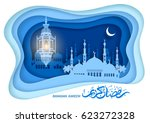 ramadan kareem greeting design... | Shutterstock .eps vector #623272328