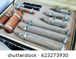 samples of electric power cable ... | Shutterstock . vector #623273930