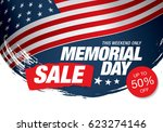 memorial day sale banner | Shutterstock .eps vector #623274146