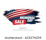 memorial day sale banner | Shutterstock .eps vector #623274254