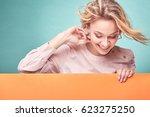 portrait of young amazing... | Shutterstock . vector #623275250