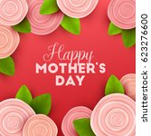 happy mothers day background... | Shutterstock .eps vector #623276600