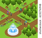 Isometric Summer Park Concept...