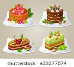 Colorful Decorative Cakes On...